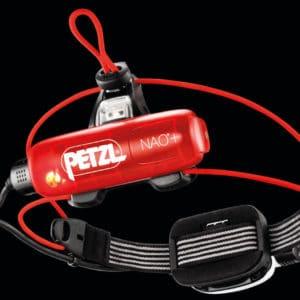 Petzl Lampe frontale NAO+ Noir Blanc Rouge